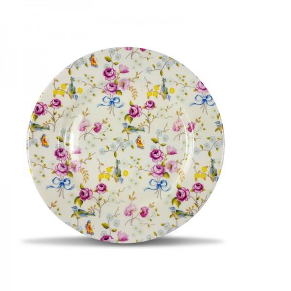 483020 cm round plate - BIRD AND BLOSSOM