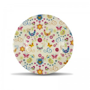 856720 cm round plate - FUNKY HEN